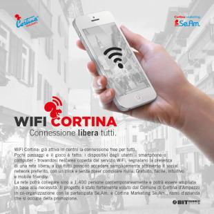 WiFi CORTINA: CONNESSIONE AD INTERNET LIBERA PER TUTTI