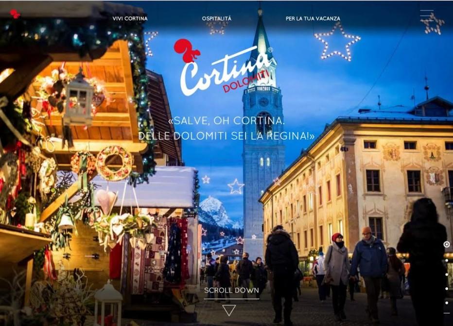 """Cortinadolomiti.eu e Web App """"Cortina Dolomiti"""". La Regina delle Dolomiti cresce sul web e si prepara per la bella stagione"""