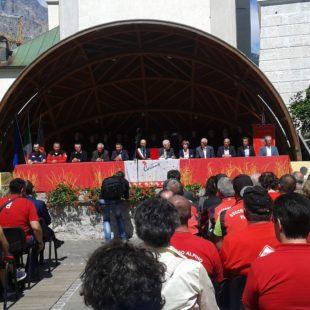 Il consiglio comunale di Cortina d'Ampezzo in Piazza Venezia