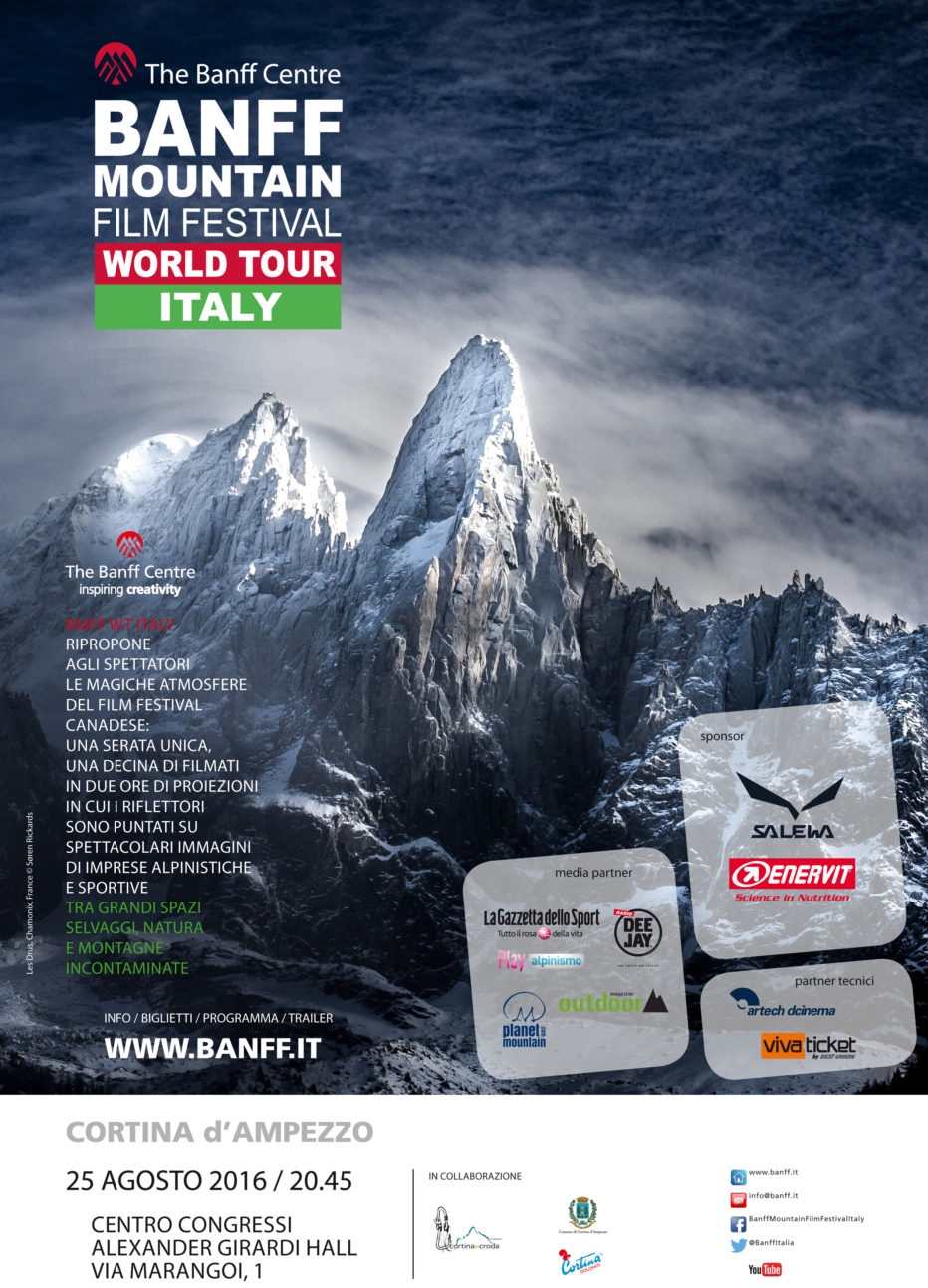 A Cortina InCroda il Banff Mountain Film Festival World Tour Italy 2016