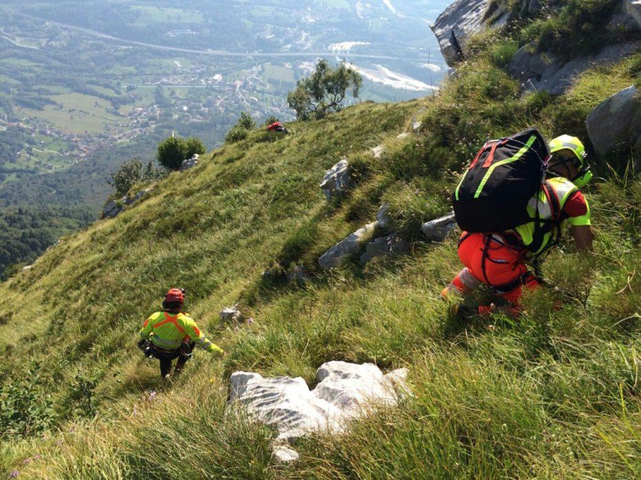 Interventi del Soccorso Alpino: sulla Moiazza, Rifugio Carestiato e Rifugio Scoiattoli alle 5 Torri a Cortina