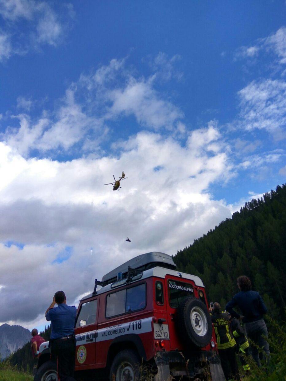 Interventi del SUEM e Soccorso Alpino al Rifugio Berti e Ciadin del Loudo sul Sorapiss