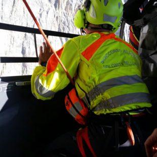 Recuperati escursionisti sulla ferrata Lipella della Tofana di Rozes