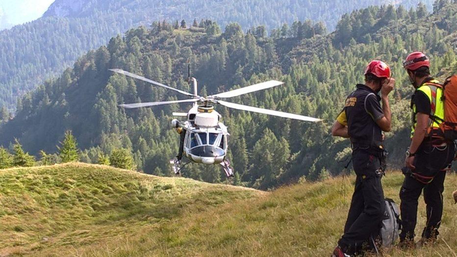 Recuperati alpinisti polacchi sul Pilastro della Tofana a Cortina d'Ampezzo