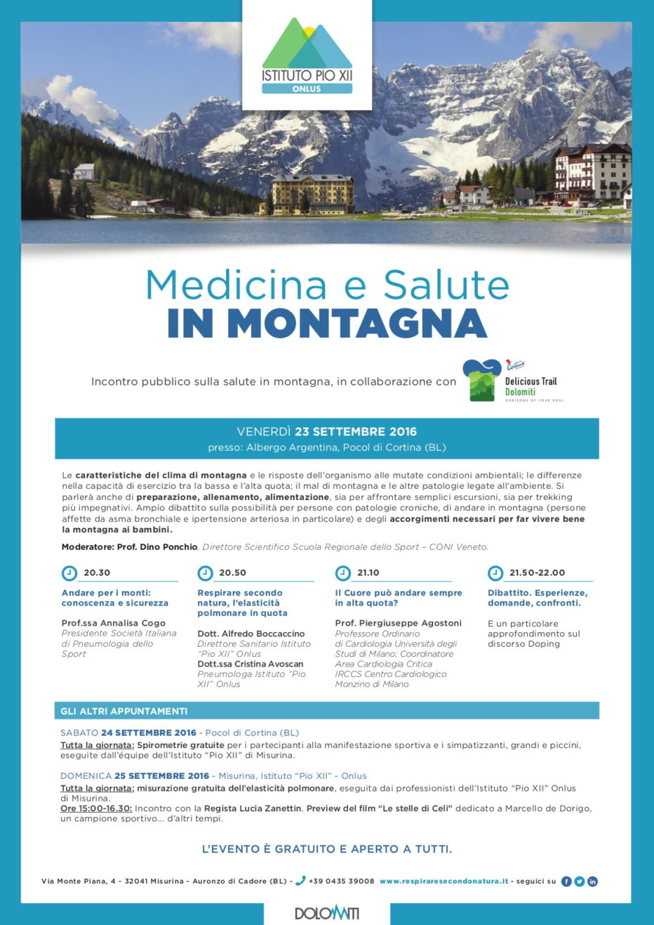 Delicious Trail Dolomiti: Medicina e salute in montagna