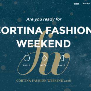 Cortina Fashion Week 2016 il nuovo sito