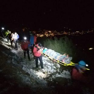 Escursionista cade sul sentiero dei camosci a Cortina