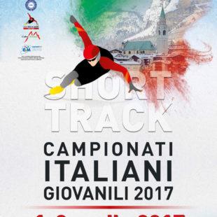 A CORTINA D'AMPEZZO I CAMPIONATI ITALIANI GIOVANILI  DI SHORT TRACK : 1 E 2 APRILE 2017.