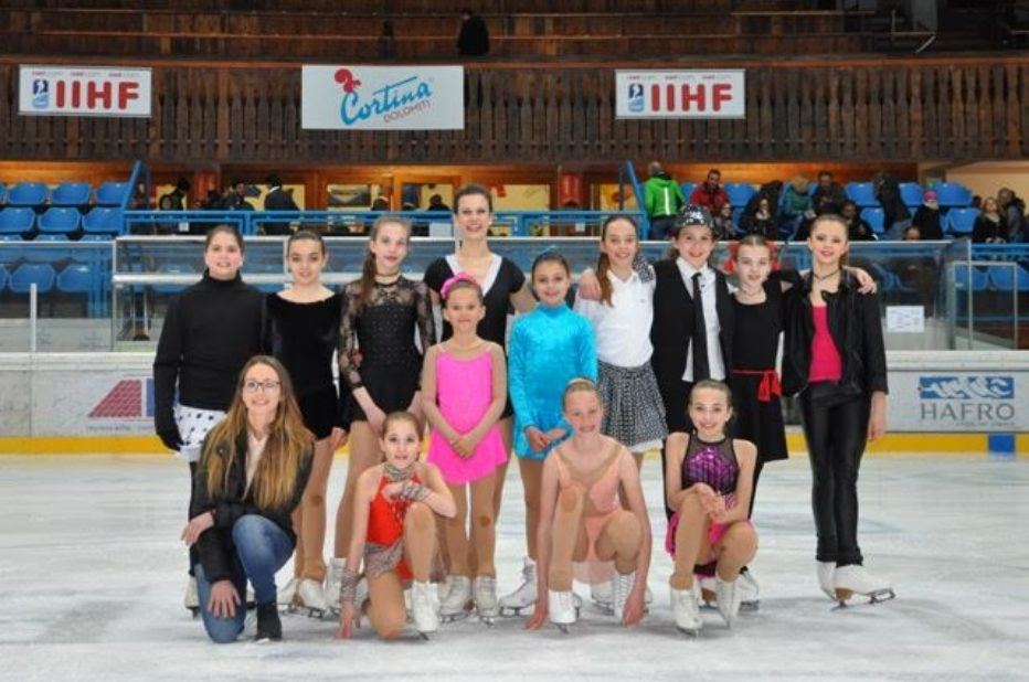 """Young band on ice 2017"": grande spettacolo di Ice Druscié Cortina e Young Band."