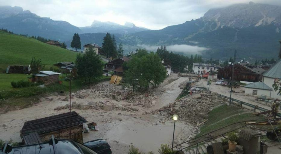 Frana a Cortina d'Ampezzo – comunicato stampa della Prefettura di Belluno e Protezione Civile della Regione Veneto