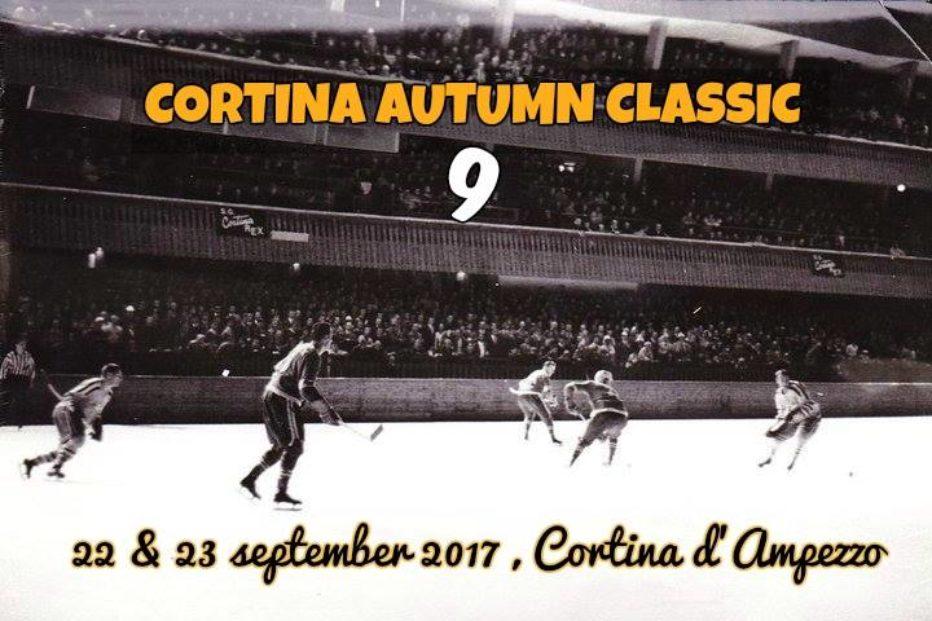 CORTINA AUTUMN CLASSIC , torneo di hockey su ghiaccio internazionale per squadre amatoriali venerdì 22 e sabato 23 settembre presso lo Stadio Olimpico di Cortina.