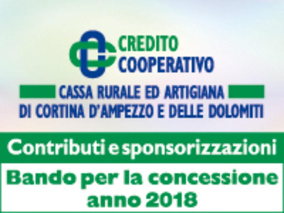 Cassa Rurale ed Artigiana di Cortina d'Ampezzo e delle Dolomiti .bando per la concessione di contributi e sponsorizzazioni pubblicitarie .