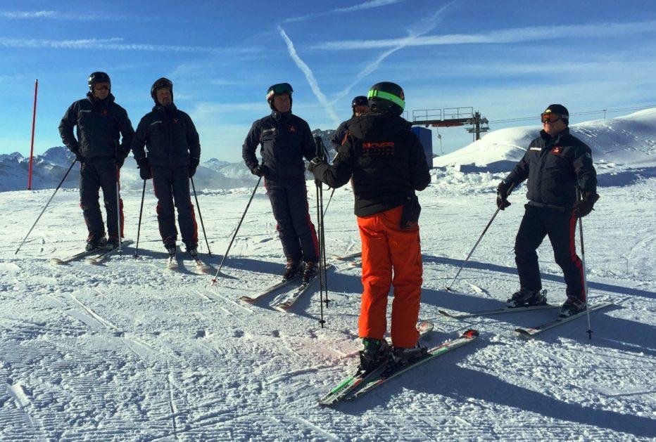 Giornata addestrativa in Faloria per i Carabinieri sciatori con gli istruttori della M'Over