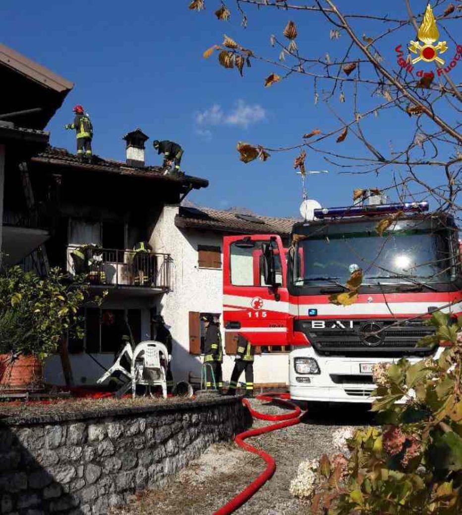 Comando Vigili del Fuoco Belluno: incendio a Santa Giustina