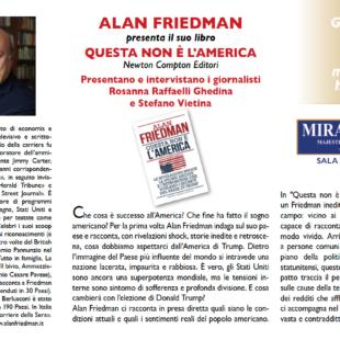 Alan Friedman a CortinaTerzoMillennio presenta il suo libro sull'America: ascolta l'intervista in diretta.