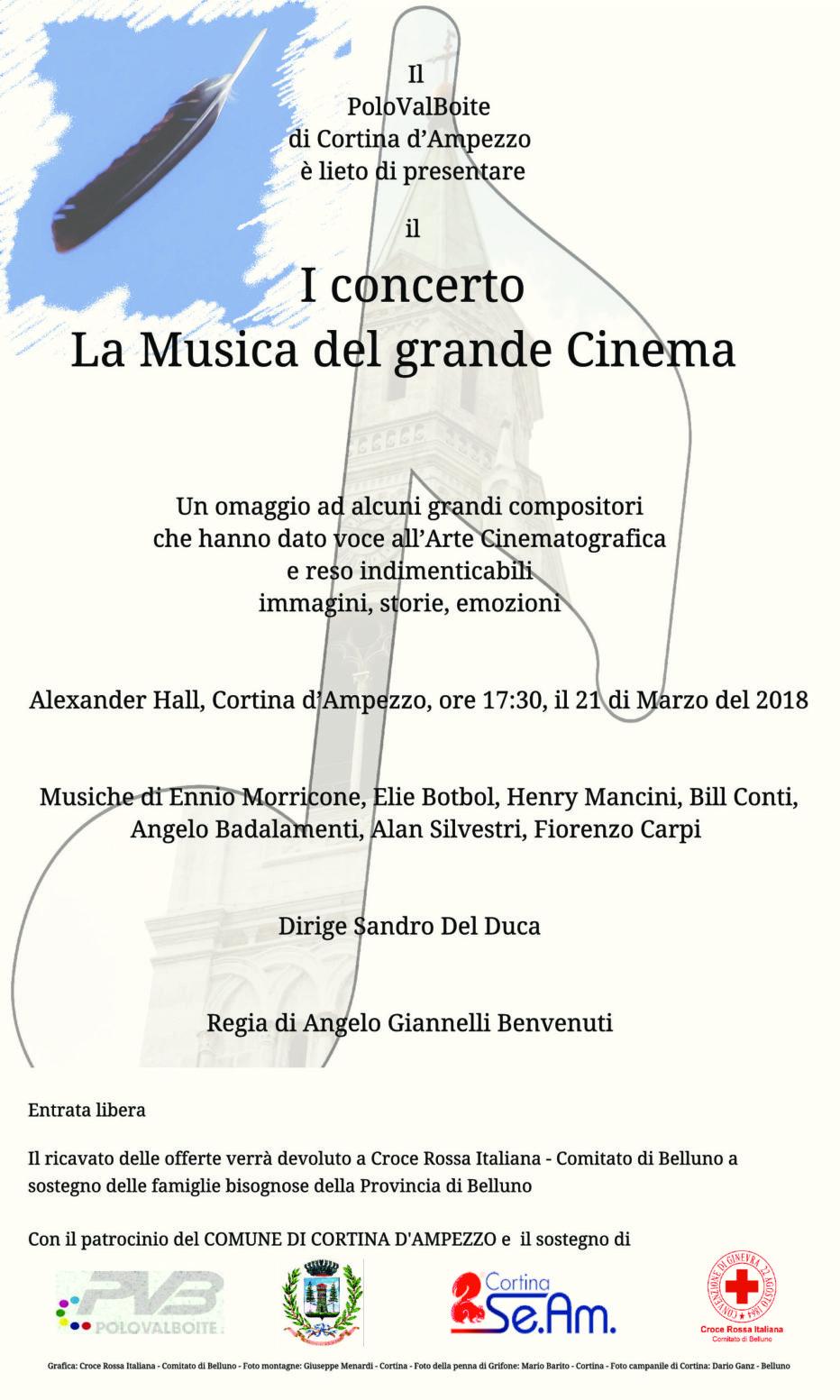 """""""La musica del grande cinema"""":  il concerto benefico a Cortina d'Ampezzo mercoledì 21 marzo. Ascolta l'intervista con i protagonisti."""