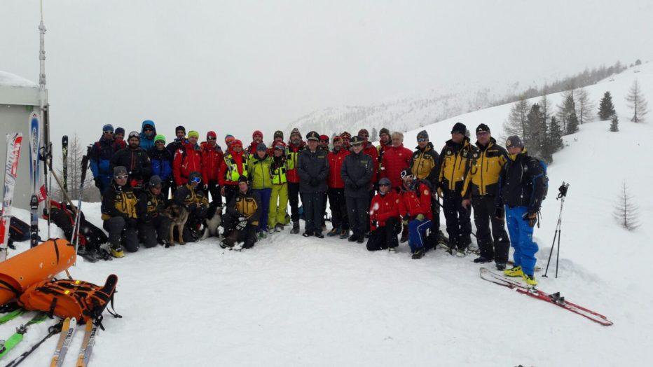 Valanghe: esercitazione congiunta Sagf-Cnsas a Cortina sopra il Passo Falzarego