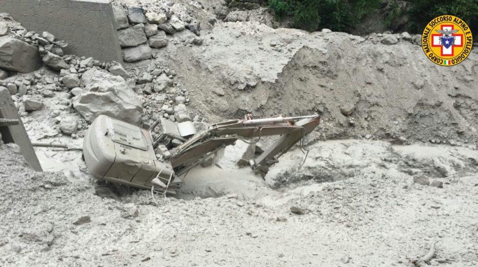 Interventi del Soccorso Alpino del 6 agosto 18 – Colata detritica Rio Rudan Peaio di Vodo di Cadore