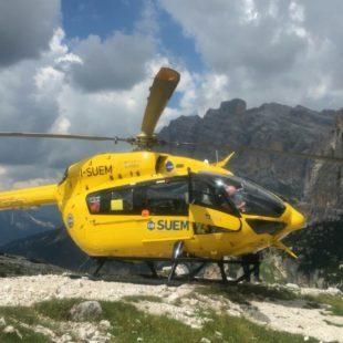 Soccorsa scialpinista in Val d'Oten a Calalzo di Cadore