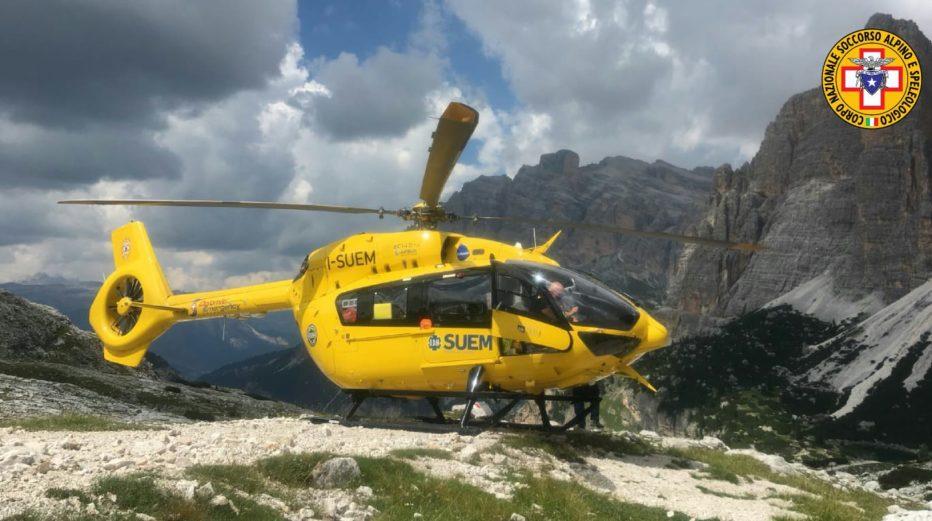 Recuperato alpinista sul Pomagagnon a Cortina