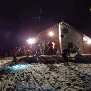 Intervento nella notte del Soccorso Alpino a Domegge di Cadore