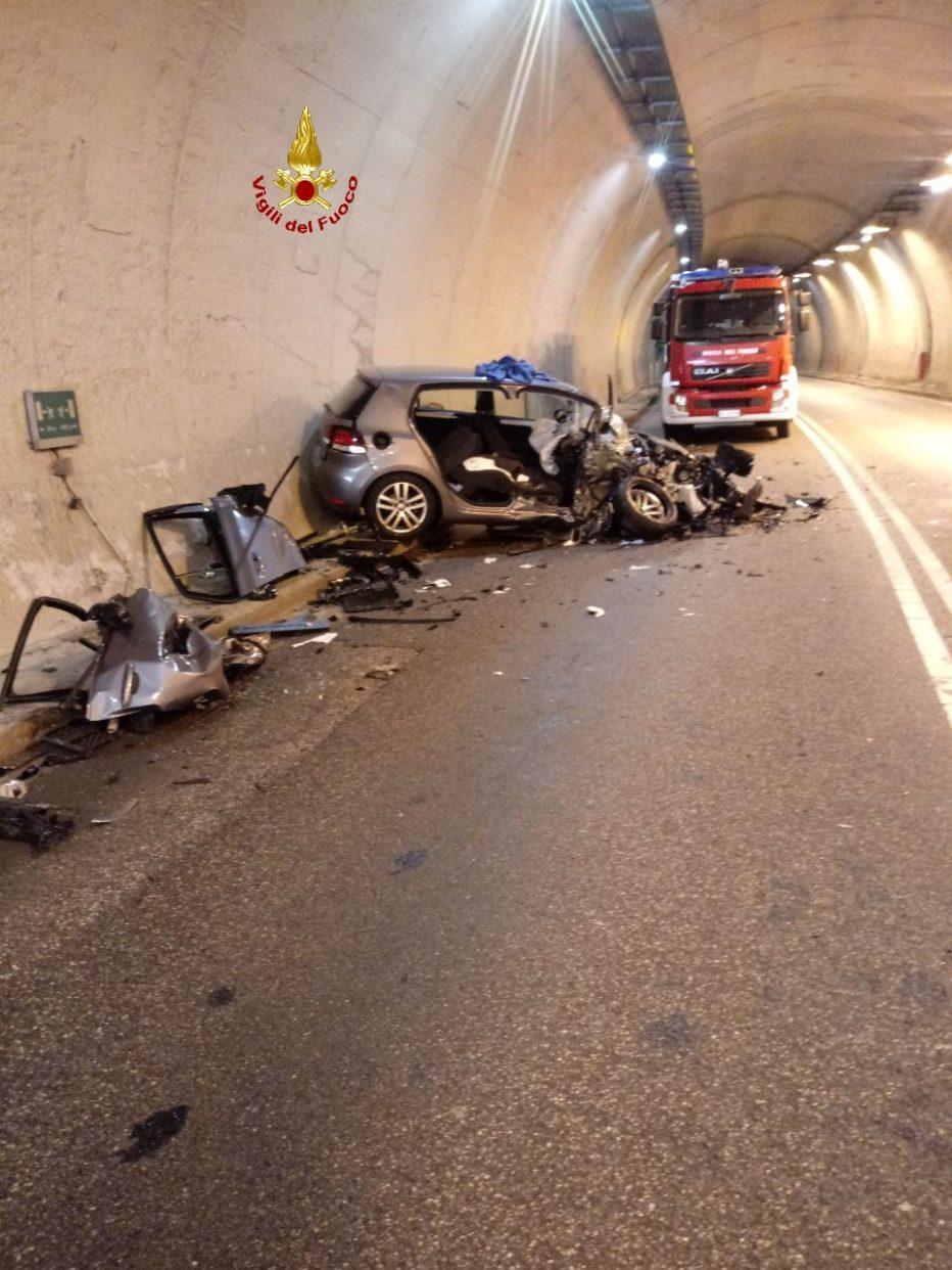 Incidente stradale in galleria Ospitale di Cadore