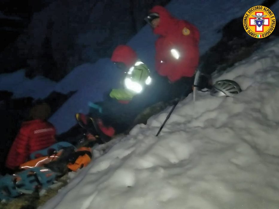 Intervento impegnativo nella notte effettuato dal Soccorso Alpino ad Auronzo di Cadore