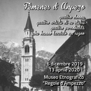 FÈMENES D'ANPEZO INAUGURA LA MOSTRA DEDICATA  A QUATTRO DONNE AMPEZZANE.