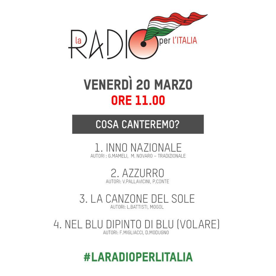 """RADIO CORTINA PARTECIPA A """"LA RADIO PER L'ITALIA"""""""