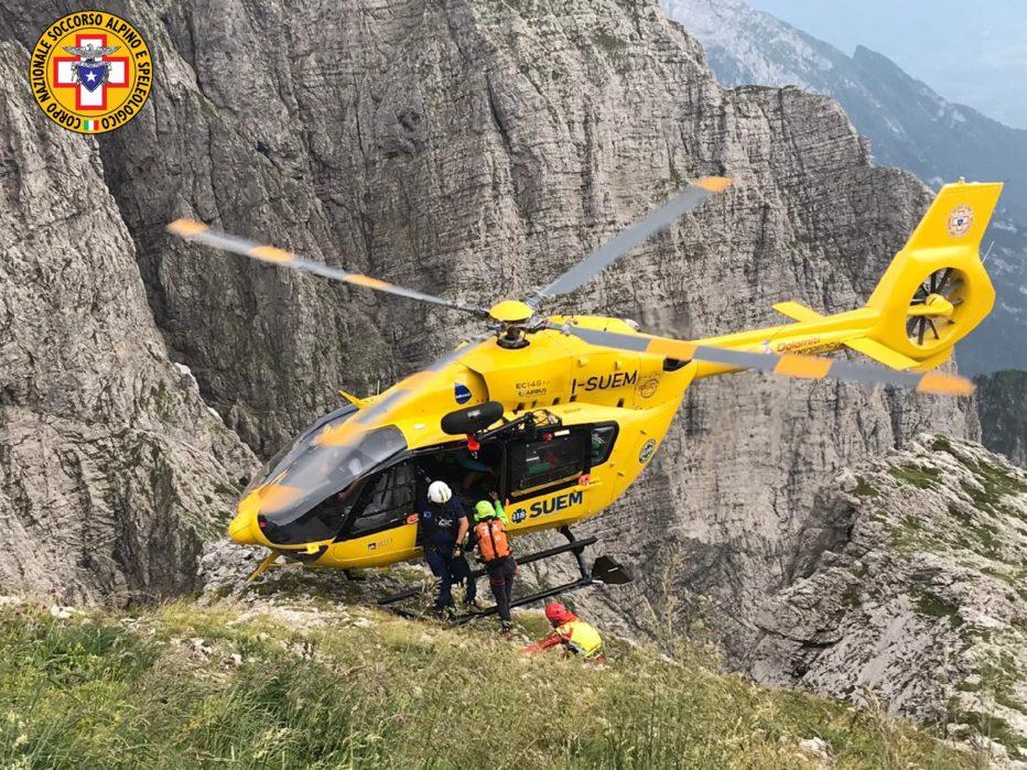 Interventi di oggi 12 luglio 2020 del Soccorso Alpino