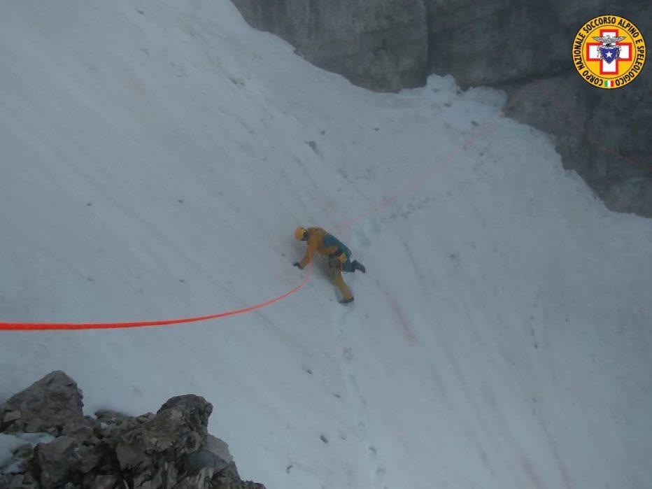 Intervento nella notte del Soccorso Alpino sulle Tre Cime di Lavaredo