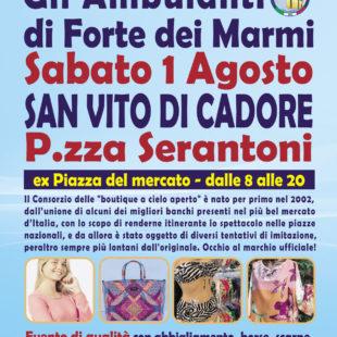 """""""Gli Ambulanti di Forte dei Marmi®"""" a San Vito di Cadore sabato 1 agosto"""