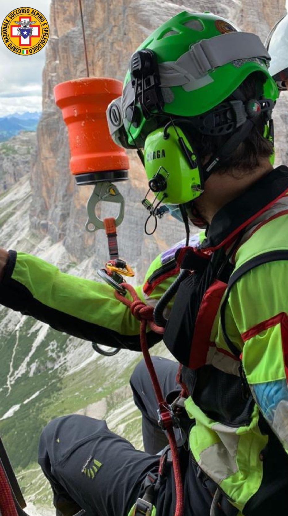 Recupero sulla ferrata Punta Anna a Cortina e soccorse escursioniste in difficoltà al Rifugio Cesa da Fuoch