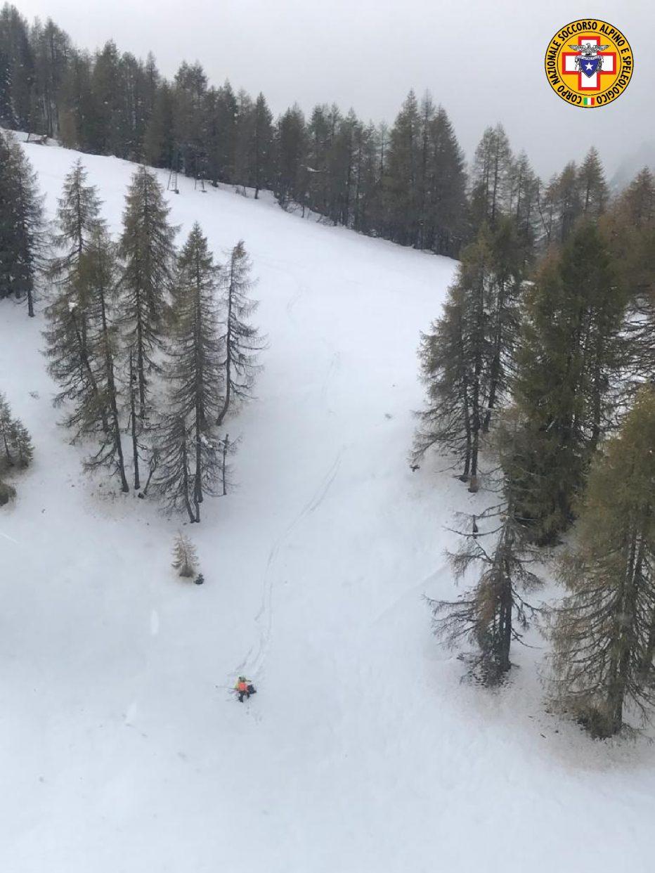 Intervento del Soccorso Alpino di oggi a Vigo di Cadore