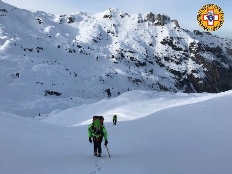 Valanga in Val Travenanzes dietro le Tofane a Cortina un probabile coinvolto