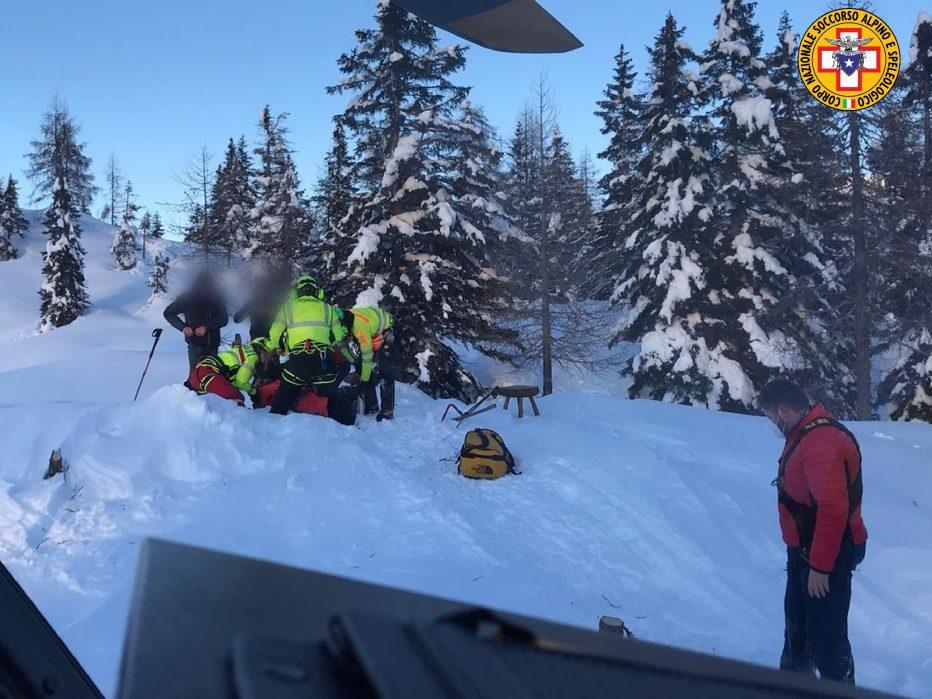 Infortunio per un giovane scialpinista sugli Spalti di Toro