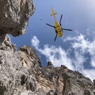 Malore sulla ferrata DiBona a Cortina