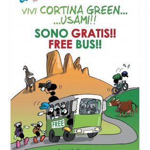 CORTINA SEMPRE PIÙ GREEN: BUS GRATUITI SINO AL 12 SETTEMBRE