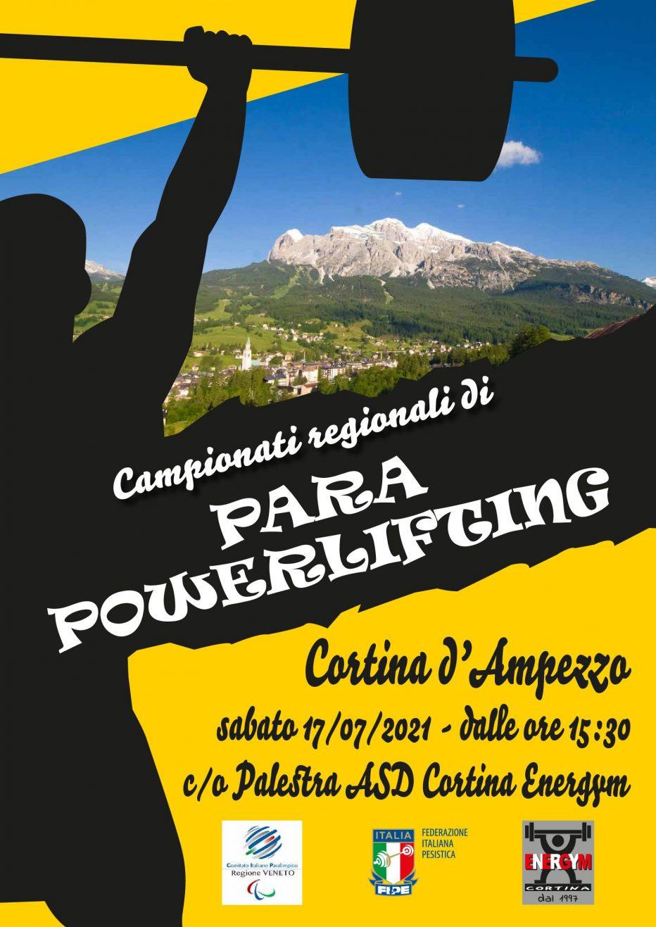 A CORTINA D'AMPEZZO I CAMPIONATI REGIONALI DI PARA POWERLIFTING